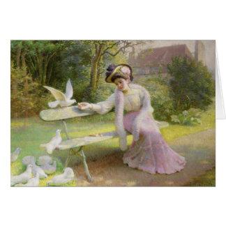 Feeding the Doves Card