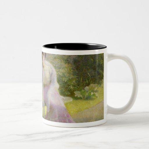 Feeding the Doves Two-Tone Coffee Mug