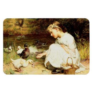 Feeding the Ducks. Easter Gift Magnets