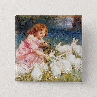 Feeding the Rabbits Pinback Button