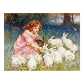 Feeding the Rabbits Postcard