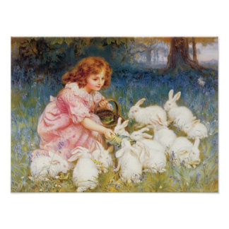 Feeding the Rabbits Poster