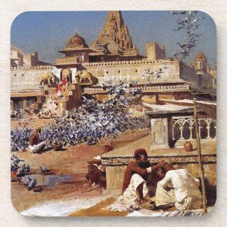 Feeding The Sacred Pigeons, Jaipur by Edwin Lord Coaster