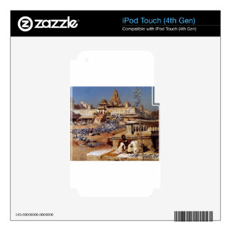 Feeding The Sacred Pigeons, Jaipur by Edwin Lord iPod Touch 4G Skin