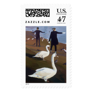 Feeding the Swans at the Round Pond Postage