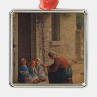 Feeding the Young, 1850 Metal Ornament