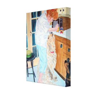 Feeding Time Gallery Wrapped Canvas
