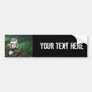 Feeding Time Owl Car Bumper Sticker