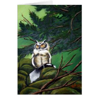 Feeding Time Owl Card