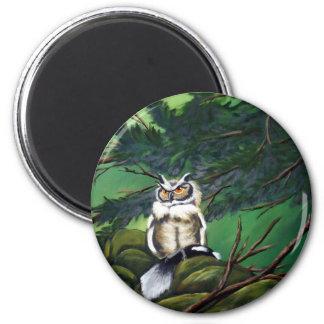 Feeding Time Owl 2 Inch Round Magnet