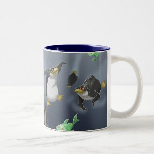 Feeding Time! Two-Tone Coffee Mug