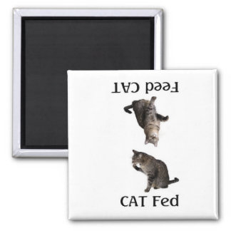 FeedTheCat 2 Inch Square Magnet