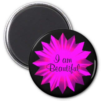 Feel beautiful now | positive affirmation 2 inch round magnet