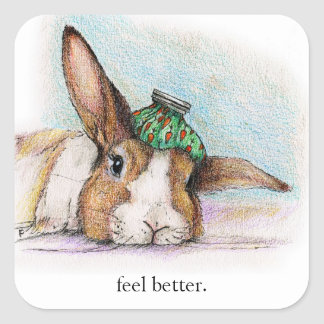 FEEL BETTER BUN SQUARE STICKER