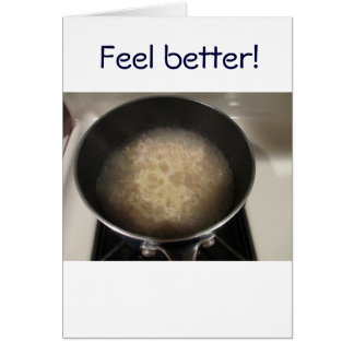 Feel better! greeting card