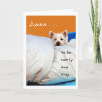 Feel Better, Cozy and Comfy Westie Dog Card