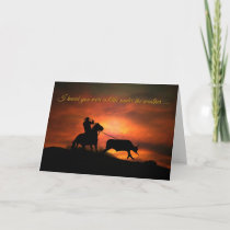 Feel Better, Get Better Rustic Funny Cowboy Card