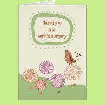 Feel Better, Get Well after Hernia Surgery, Bird Card