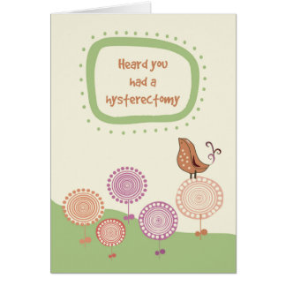 Feel Better, Get Well after Hysterectomy, Bird Greeting Card
