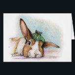 "FEEL BETTER - GET WELL CARD<br><div class=""desc"">This bun is a but under-the-weather!</div>"