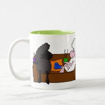 Feel Better Sheeple Two-Tone Coffee Mug