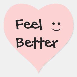 Feel Better Smile Heart Sticker