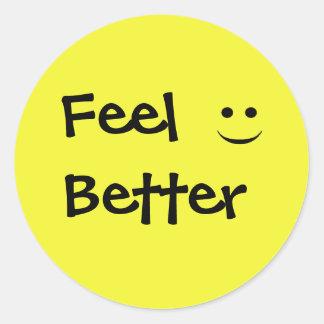 Feel Better Smile Round Sticker
