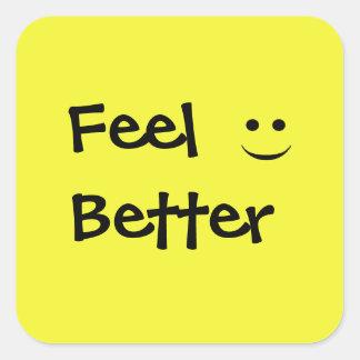 Feel Better Smile Square Sticker