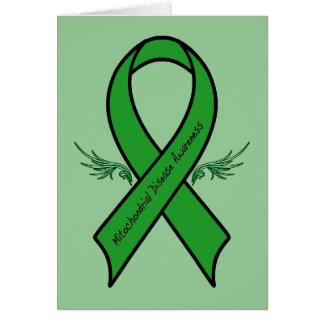 Feel Better Soon: Mitochondrial Awareness Ribbon Card