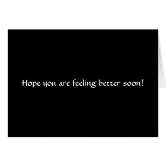 Feel Better Soon Stationery Note Card