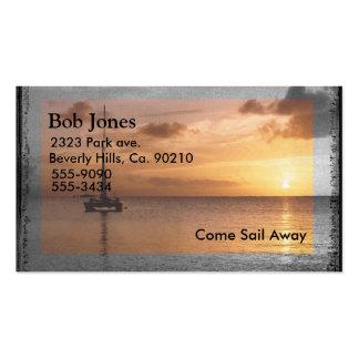 Feel Better Sunlit Ocean Set Business Card Template