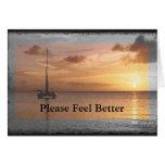 Feel Better Sunlit Ocean Set Greeting Cards
