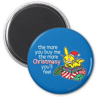 Feel Christmasy 2 Inch Round Magnet