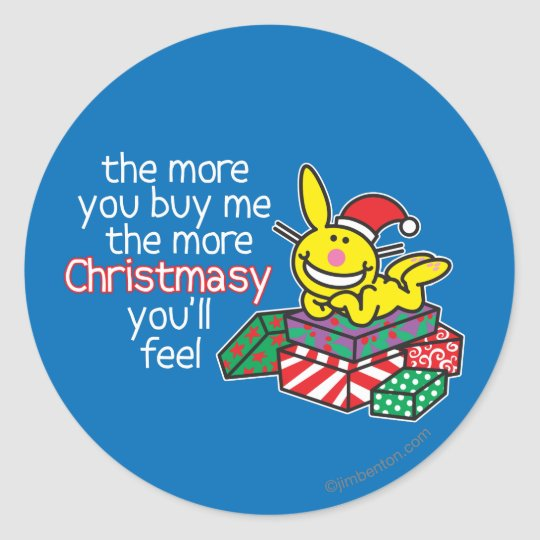 Feel Christmasy Classic Round Sticker