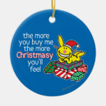 Feel Christmasy Double-Sided Ceramic Round Christmas Ornament