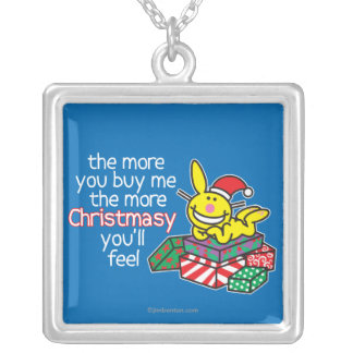 Feel Christmasy Square Pendant Necklace