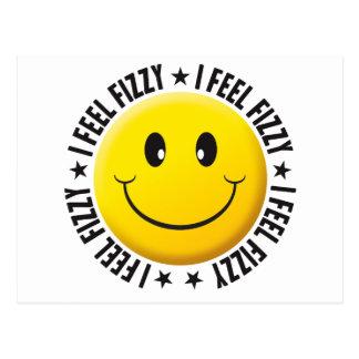 Feel Fizzy Smiley. Postcard