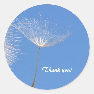 Feel free - Flying Dandelion seed Round Sticker
