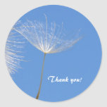 Feel free - Flying Dandelion seed Classic Round Sticker