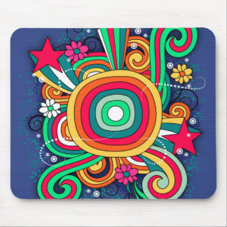 Feel Happy Vibrant Fun Mouse Pad
