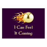 Feel It Coming Pinball Large Business Cards (Pack Of 100)