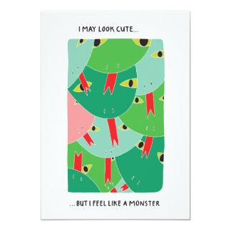 Feel Like a Monster Card