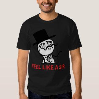 Feel Like A Sir - 2-sided Black T-Shirt