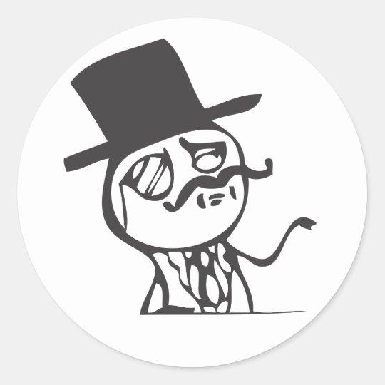 Feel Like A Sir Classic Round Sticker