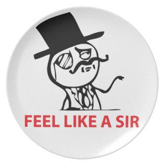 Feel like a sir plate