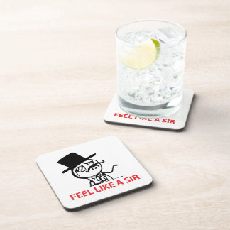 Feel Like  A Sir - set of 6 Cork Coasters