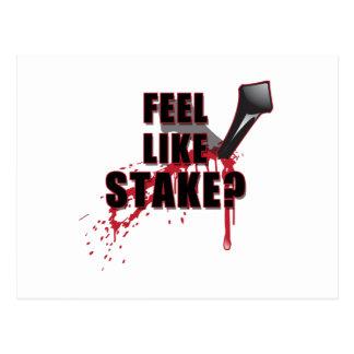 Feel Like STAKE? Postcard