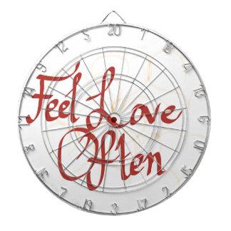 Feel Love Often Dart Board