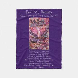 Feel My Beauty Cancer Angel Soft Fleece Blanket