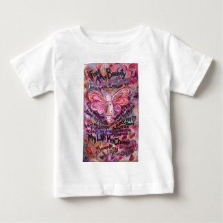 Feel My Beauty Pink Cancer Angel Baby T-Shirt